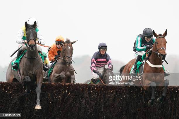 Nico de Boinville riding Pym on their way to winning The Horse Racing Ireland Chase at Ascot Racecourse on November 23, 2019 in Ascot, England.