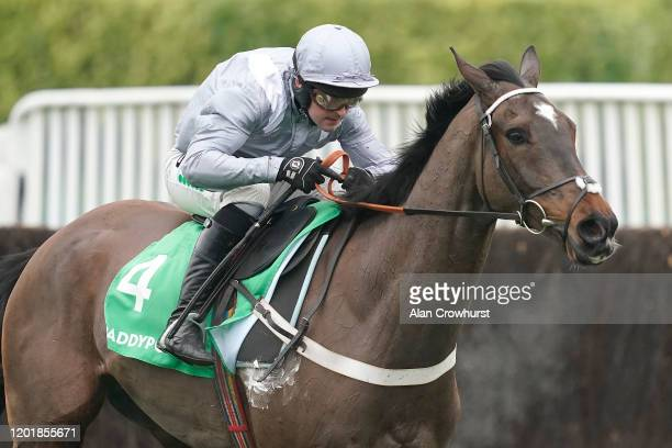 Nico de Boinville riding Santini clear the last to win The Paddy Power Cotswold Chase at Cheltenham Racecourse on January 25, 2020 in Cheltenham,...