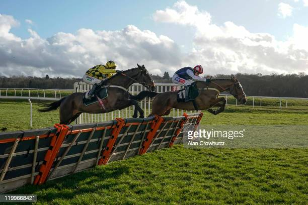 Nico de Boinville riding Shishkin clear the last to win The MansionBet Proud To Sponsor British Racing Novices' Hurdle at Newbury Racecourse on...
