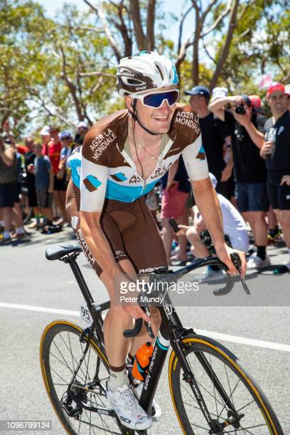 ADELAIDE AUSTRALIA JANUARY 20 Nico Denz of France and AG2R La Mondiale on the Old Willunga Hill climb during Stage 6 from McLaren Vale to Willunga...