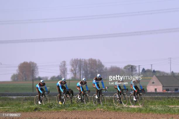 Nico Denz of Germany and Team Ag2r-La Mondiale / Silvan Dillier of Switzerland and Team Ag2r-La Mondiale / Julien Duval of France and Team Ag2r-La...