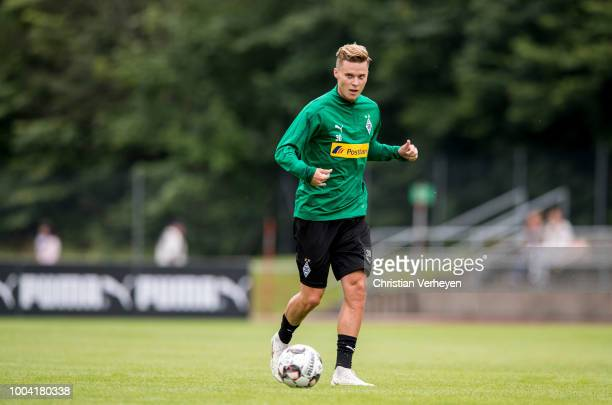 Nico Elvedi in action during a Training Session at Borussia Moenchengladbach Training Camp at Stadion am Birkenmoos on July 23 2018 in RottachEgern...