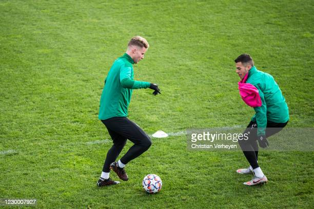 Nico Elvedi in action during a training session of Borussia Moenchengladbach ahead the Group B - UEFA Champions League match between Real Madrid and...