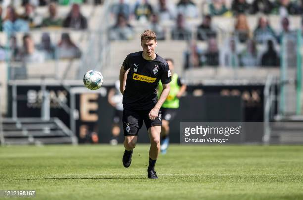 Nico Elvedi in action during a training session of Borussia Moenchengladbach at BorussiaPark on May 08 2020 in Moenchengladbach Germany