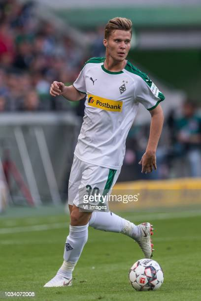 Nico Elvedi of Borussia Mönchengladbach DFL REGULATIONS PROHIBIT ANY USE OF PHOTOGRAPHS AS IMAGE SEQUENCES AND/OR QUASIVIDEO during the Bundesliga...