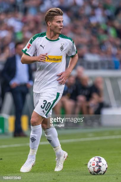 Nico Elvedi of Borussia Mönchengladbach DFL REGULATIONS PROHIBIT ANY USE OF PHOTOGRAPHS AS IMAGE SEQUENCES AND/OR QUASIVIDEO during the Bundesliga...