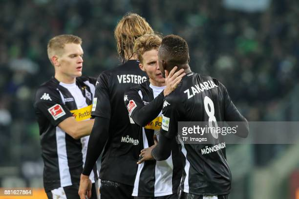 Nico Elvedi of Borussia Moenchengladbach and Denis Zakaria of Borussia Moenchengladbach are seen during the Bundesliga match between Borussia...