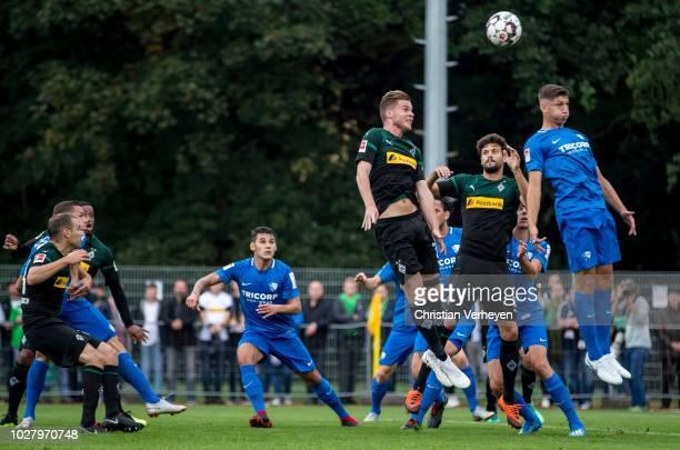Nico Elvedi of Borussia Moenchengladbach battle for the ball during the friendly match between Borussia Moenchengladbach and VfL Bochum at...