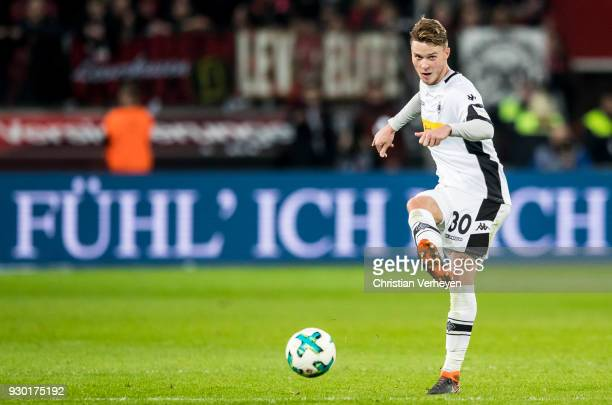Nico Elvedi of Borussia Moenchengladbach during the Bundesliga match between Bayer 04 Leverkusen and Borussia Moenchengladbach at BayArena on March...