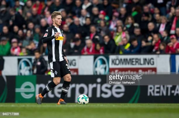 Nico Elvedi of Borussia Moenchengladbach during the Bundesliga match between 1 FSV Mainz 05 and Borussia Moenchengladbach at Opel Arena on April 01...