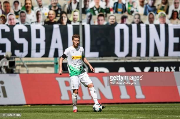 Nico Elvedi of Borussia Moenchengladbach in action during the Bundesliga match between Borussia Moenchengladbach and Bayer 04 Leverkusen at...