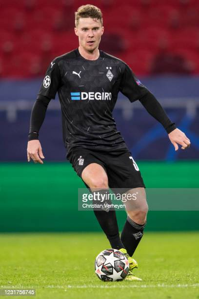March 16: Nico Elvedi of Borussia Moenchengladbach in action during the UEFA Champions League Round Of 16 Leg Two match between Manchester City and...