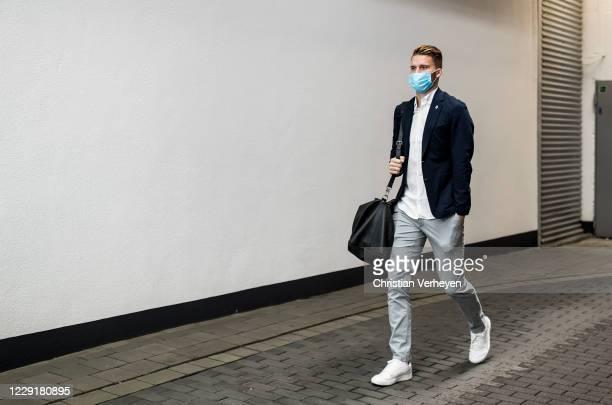 Nico Elvedi of Borussia Moenchengladbach is seen during Borussia Moenchengladbach departs to the Group B UEFA Champions League match between FC...