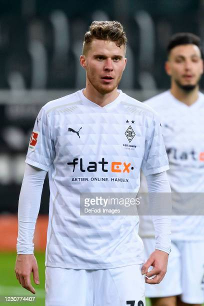 Nico Elvedi of Borussia Moenchengladbach looks on during the Bundesliga match between Borussia Moenchengladbach and Borussia Dortmund at...