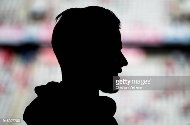 Nico Elvedi of Borussia Moenchengladbach prior to the Bundesliga match between FC Bayern Muenchen and Borussia Moenchengladbach at Allianz Arena on...