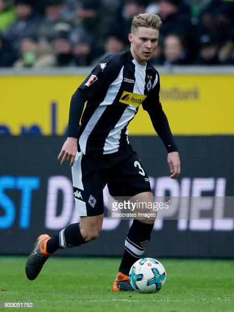 Nico Elvedi of Borussia Monchengladbach during the German Bundesliga match between Borussia Monchengladbach v 1899 Hoffenheim at the Borussia Park on...