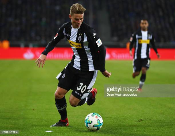 Nico Elvedi of Borussia Monchengladbach in action during the Bundesliga match between Borussia Moenchengladbach and FC Schalke 04 at BorussiaPark on...