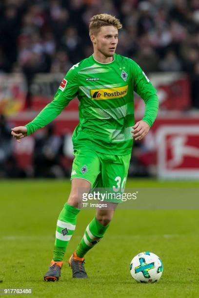 Nico Elvedi of Moenchengladbach controls the ball during the Bundesliga match between VfB Stuttgart and Borussia Moenchengladbach at MercedesBenz...