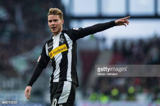 Nico Elvedi of Moenchengladbach gestures during the Bundesliga match between 1 FSV Mainz 05 and Borussia Moenchengladbach at Opel Arena on April 1...