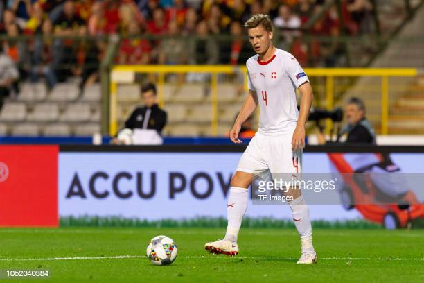 Nico Elvedi of Switzerland controls the ball during the UEFA Nations League A group two match between Belgium and Switzerland at Roi Baudouin Stadion...