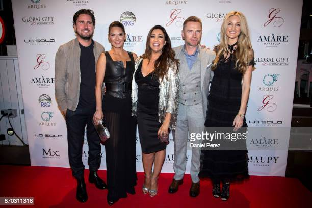 Nico Escamez Ivonne Reyes Maria Bravo Ronan Keating and Storm Keating attend at the 2nd Annual Global Gift Ronan Keating Golf Tournament Dinner and...