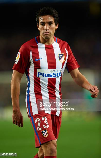 Nico Gaitan of Atletico de Madrid looks on during the Copa del Rey semifinal second leg match between FC Barcelona and Atletico de Madrid at Camp Nou...