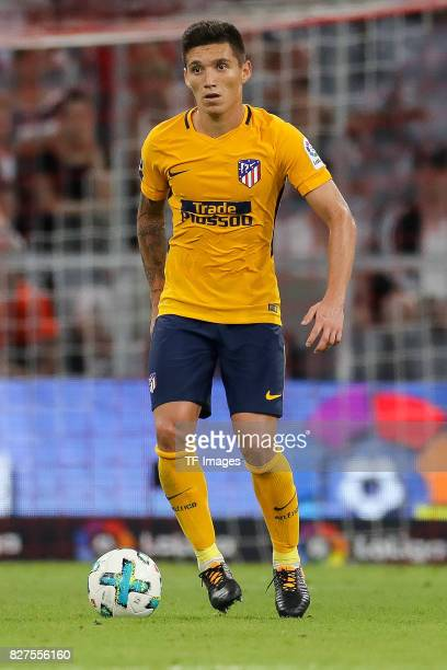 Nico Gaitan of Atletico Madrid controls the ball during the Audi Cup 2017 match between Liverpool FC and Atletico Madrid at Allianz Arena on August 2...