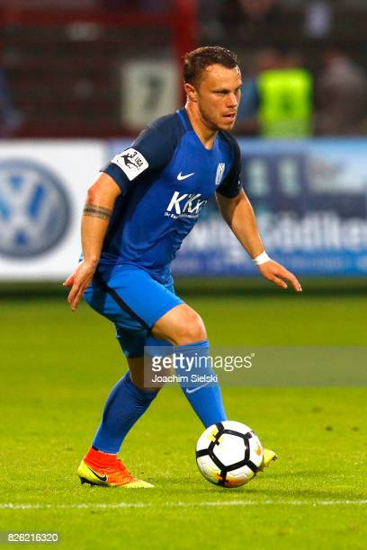 Nico Granatowski of Meppen during the 3 Liga match between SV Meppen and 1 FC Magdeburg at Haensch Arena on August 2 2017 in Meppen Germany