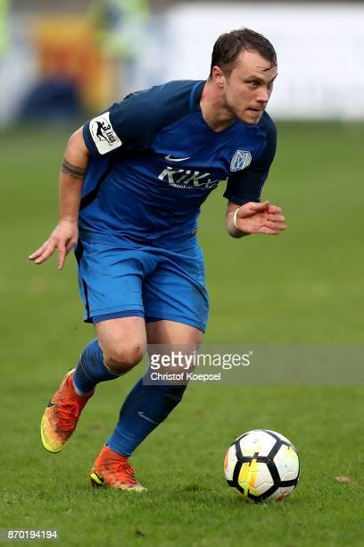 Nico Granatowski of Meppen runs with the ball during the 3 Liga match between SV Meppen and Chemnitzer FC at Haensch Arena on November 4 2017 in...