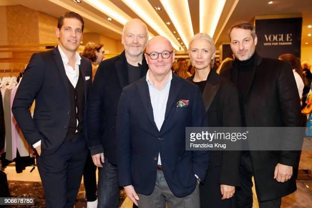 Nico Heinemann Otto Droegsler Andre Maeder Christiane Arp and Marcus Kurz during the celebration of 'Der Berliner Salon' by KaDeWe Vogue at KaDeWe on...