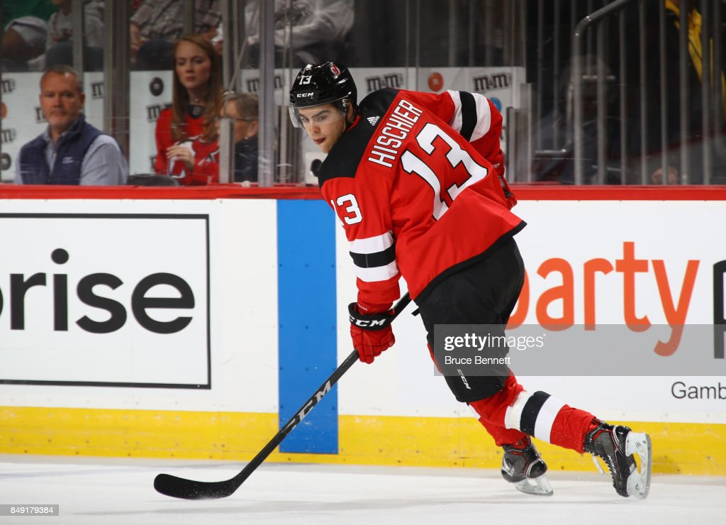 960a5d3f1 Nico Hischier of the New Jersey Devils skates against the Washington ...