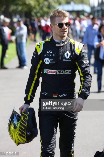 Nico Hülkenberg of Renault Sport F1 Team walks for his annual driver portrait on day 1 of the 2019 Formula 1 Australian Grand Prix