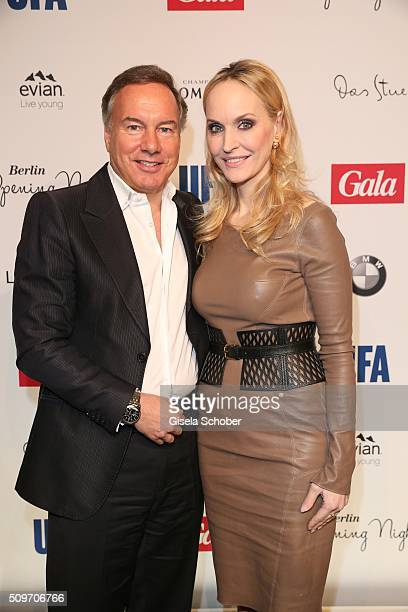 Nico Hofmann and Anne Meyer-Minnemann , editor in chief of GALA, during the 'Berlin Opening Night of GALA & UFA Fiction' at Das Stue Hotel on...
