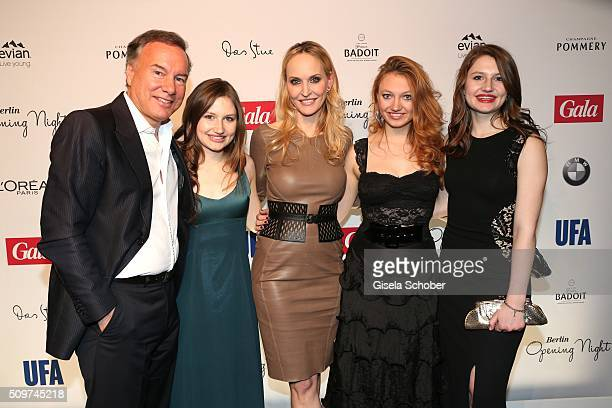 Nico Hofmann Hayley Emerson Anne MeyerMinnemann Jacqueline Emerson and Taylor Emerson during the 'Berlin Opening Night of GALA UFA Fiction' at Das...