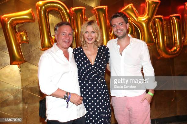 Nico Hofmann Veronica Ferres and Johannes Kunkel during the Freder Fredersen by UFA Fiction party at Club Harry Klein on June 30 2019 in Munich...