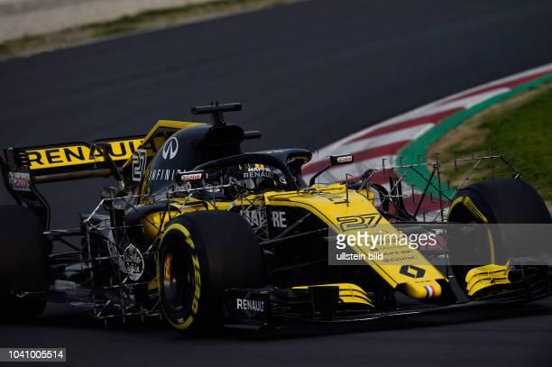 Nico Huelkenberg, Renault F1 Team, formula 1 GP, Test, Barcelona Spanien,