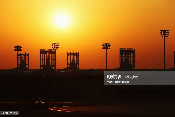 Nico Hulkenberg of Germany and Force India drives during day one of Formula One Winter Testing at the Bahrain International Circuit on February 19...