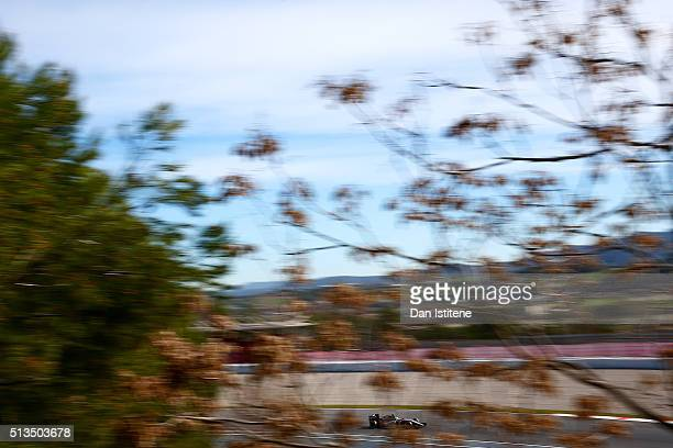Nico Hulkenberg of Germany and Force India drives during day three of F1 winter testing at Circuit de Catalunya on March 3 2016 in Montmelo Spain