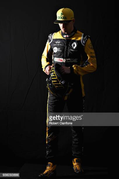 Nico Hulkenberg of Germany and Renault Sport F1 poses for a photo during previews ahead of the Australian Formula One Grand Prix at Albert Park on...