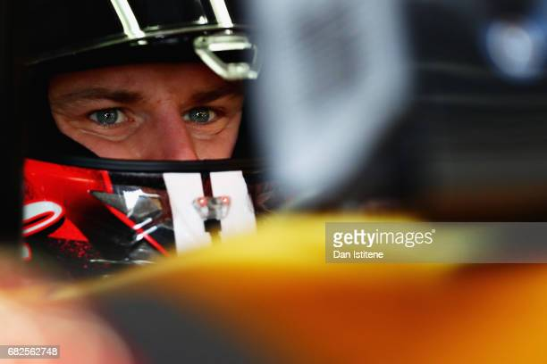Nico Hulkenberg of Germany and Renault Sport F1 prepares to drive during final practice for the Spanish Formula One Grand Prix at Circuit de...