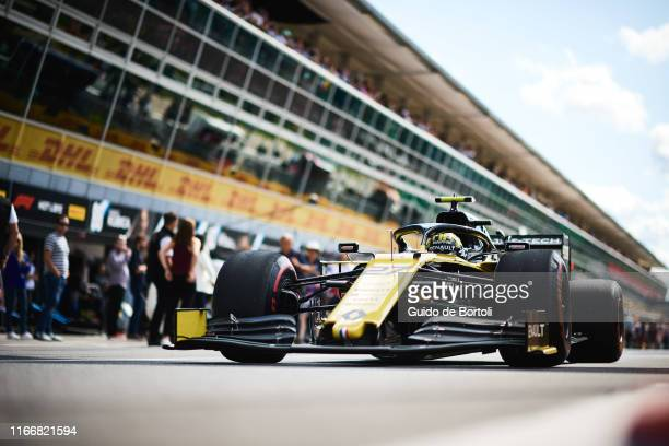 Nico Hulkenberg of Germany and Renault Sport Formula One Team on his way out of the pits during the Formula 1 Grand Prix of Italy at Autodromo di...