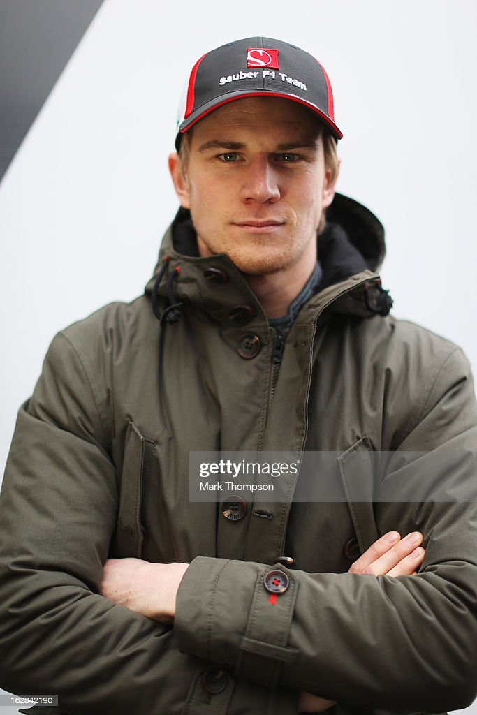 Nico Hulkenberg of Germany and Sauber F1 poses for a photograph during day one of Formula One winter test at the Circuit de Catalunya on February 28, 2013 in Montmelo, Spain.