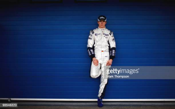 Nico Hulkenberg of Germany and team Williams poses for portraits at the Circuito De Jerez on December 2 2009 in Jerez de la Frontera Spain