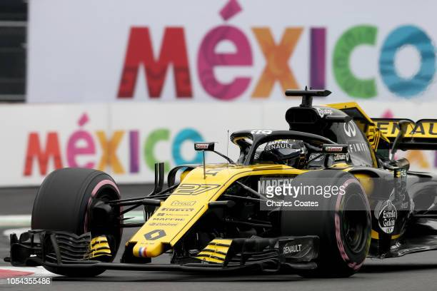 Nico Hulkenberg of Germany driving the Renault Sport Formula One Team RS18 on track during qualifying for the Formula One Grand Prix of Mexico at...