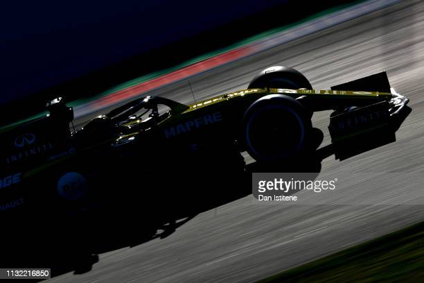 Nico Hulkenberg of Germany driving the Renault Sport Formula One Team RS19 on track during day one of F1 Winter Testing at Circuit de Catalunya on...