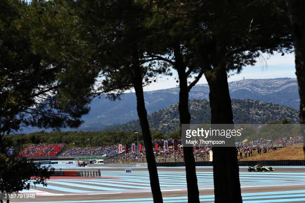 Nico Hulkenberg of Germany driving the Renault Sport Formula One Team RS19 on track during the F1 Grand Prix of France at Circuit Paul Ricard on June...