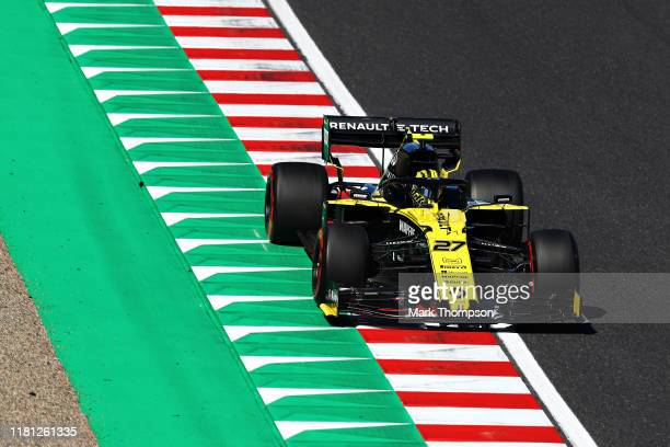 Nico Hulkenberg of Germany driving the Renault Sport Formula One Team RS19 on track during qualifying for the F1 Grand Prix of Japan at Suzuka...