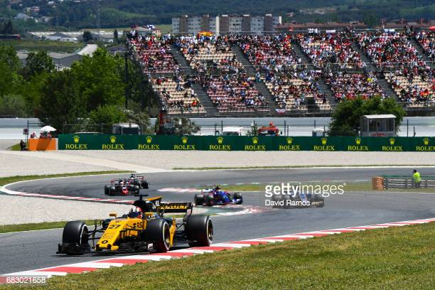 Nico Hulkenberg of Germany driving the Renault Sport Formula One Team Renault RS17 on track during the Spanish Formula One Grand Prix at Circuit de...