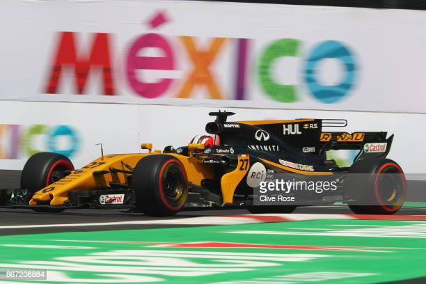 Nico Hulkenberg of Germany driving the Renault Sport Formula One Team Renault RS17 on track during practice for the Formula One Grand Prix of Mexico...