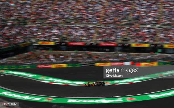 Nico Hulkenberg of Germany driving the Renault Sport Formula One Team Renault RS17 on track during qualifying for the Formula One Grand Prix of...